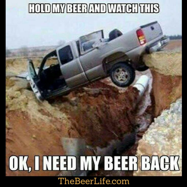 All things are possible with beer. Who can relate to this?