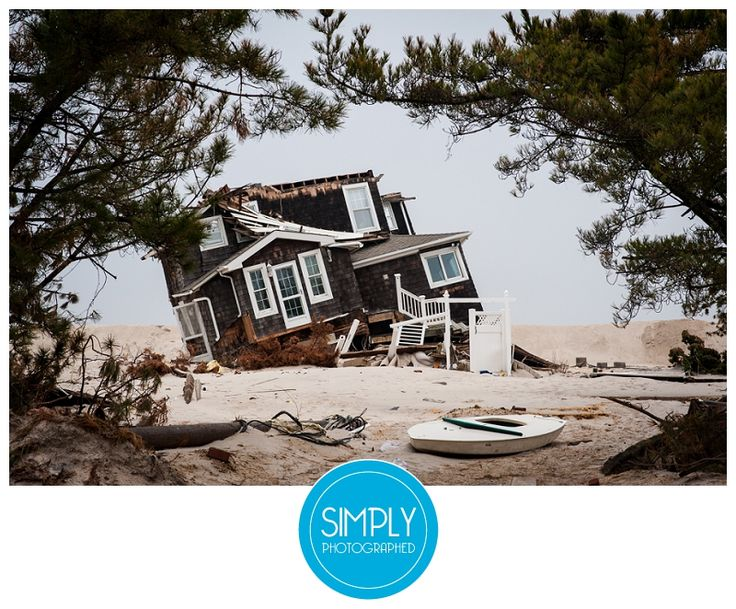 Destroyed house on Route 35 in Mantoloking after Hurricane Sandy.  (11 weeks after Hurricane Sandy) New Jersey, Jersey Shore, Beach, Ocean