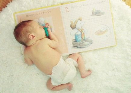 Newborn photos to inspired your first photography session try this shot with a chemistry book