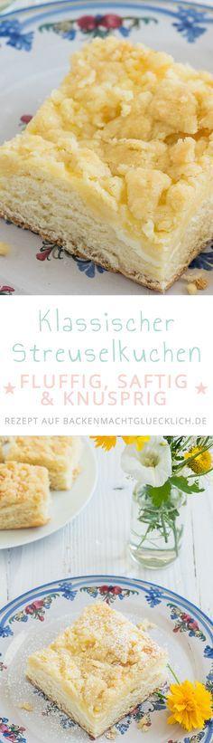 Mit diesem Streuselkuchen-Rezept bekommt ihr das perfekte Ergebnis: weich, knusprig, saftig und fluffig! (Cool Desserts Ideas)