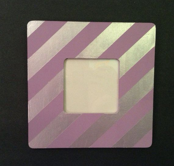 Colored stripes picture frames with protective cover (this listing is for 1 of 5 frames) on Etsy, $12.00