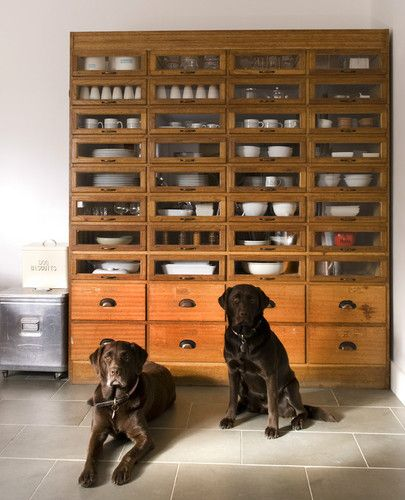 Vintage oak haberdashery drapers chest with drawers 1930's