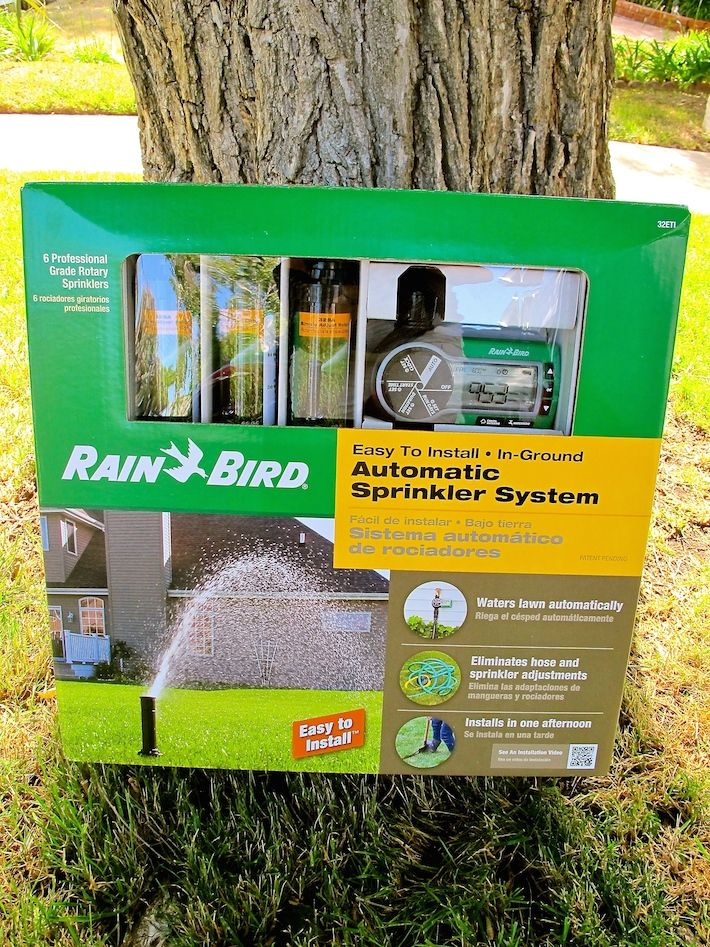 Rain Bird Easy-to-Install Automatic Sprinkler System-this was SO easy to install and hooks up to a hose spigot. We now have automatic sprinklers in our rental and a beautiful, green lawn!
