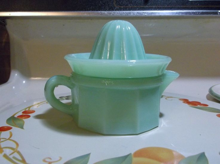 Jadeite Small Juicer with Reamer in Excellent Condition in Pottery & Glass, Glass, Glassware, 40s, 50s, 60s, Anchor Hocking, Fire-King | eBay