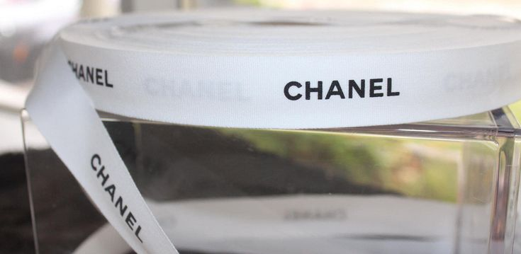 Chanel authentic Ribbon by the yard white cotton 1 inch wide sold by the yard 36 inches discount for multiple yards
