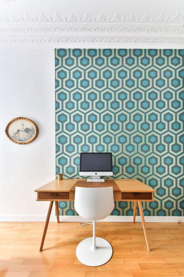 Les 25 meilleures id es de la cat gorie papier peint de bureau sur pinterest - Decorer grand mur blanc ...