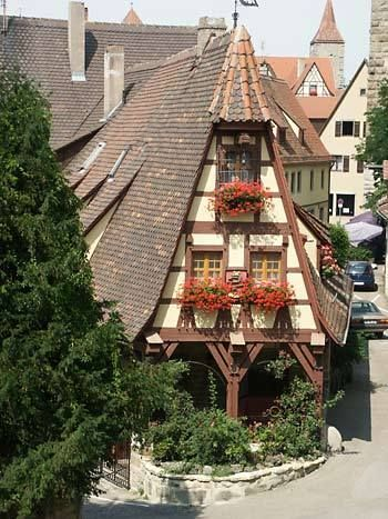 Rothenburg. The best preserved medieval town in Germany,