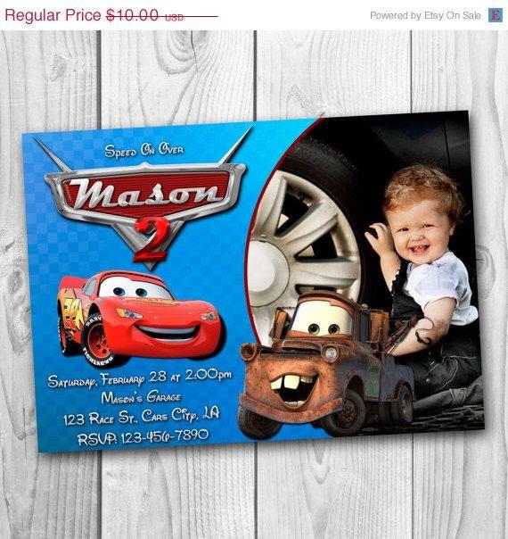 ON SALE 35% Disney Cars Invitation - Cars Birthday Party Invitation - Disney Cars Printable - Cars Invitations - Lightning McQueen Invitatio by CuteInvitation1 on Etsy https://www.etsy.com/listing/213356757/on-sale-35-disney-cars-invitation-cars