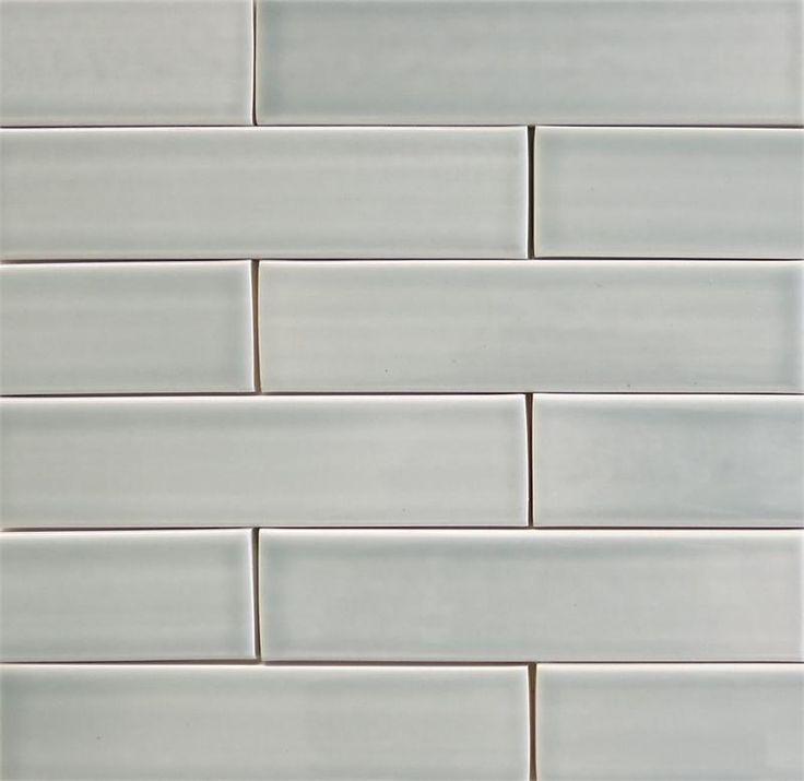 Ceramic subway tile for kitchen backsplash or bathroom tile in gray color Brine - modwalls.com