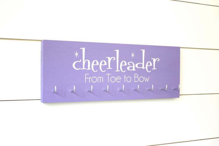 Cheerleader Medal & Bow Holder with Pattern- Cheerleading - Cheer - Medium