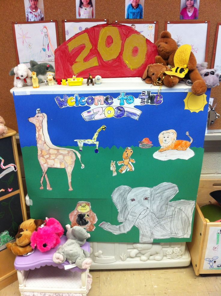 kindergarten dramatic play  the zoo   in a very small