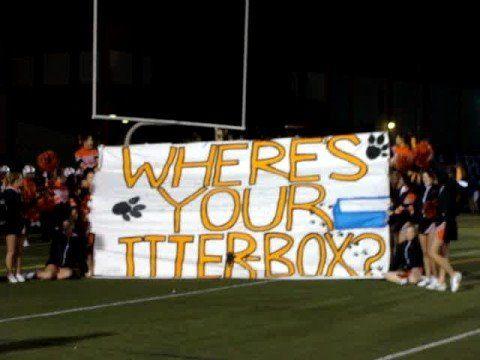 Beaverton Varsity Football players run through sign ` - YouTube