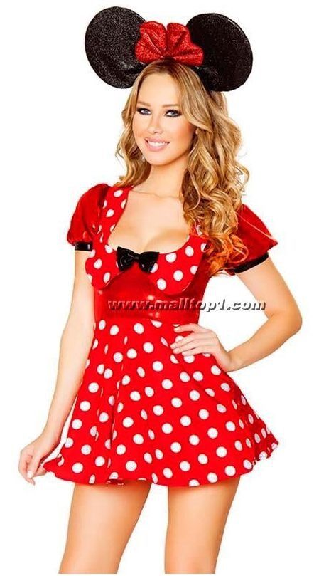 Minnie Mouse -sml to XL $45 hire plus $20 bond. All access inc