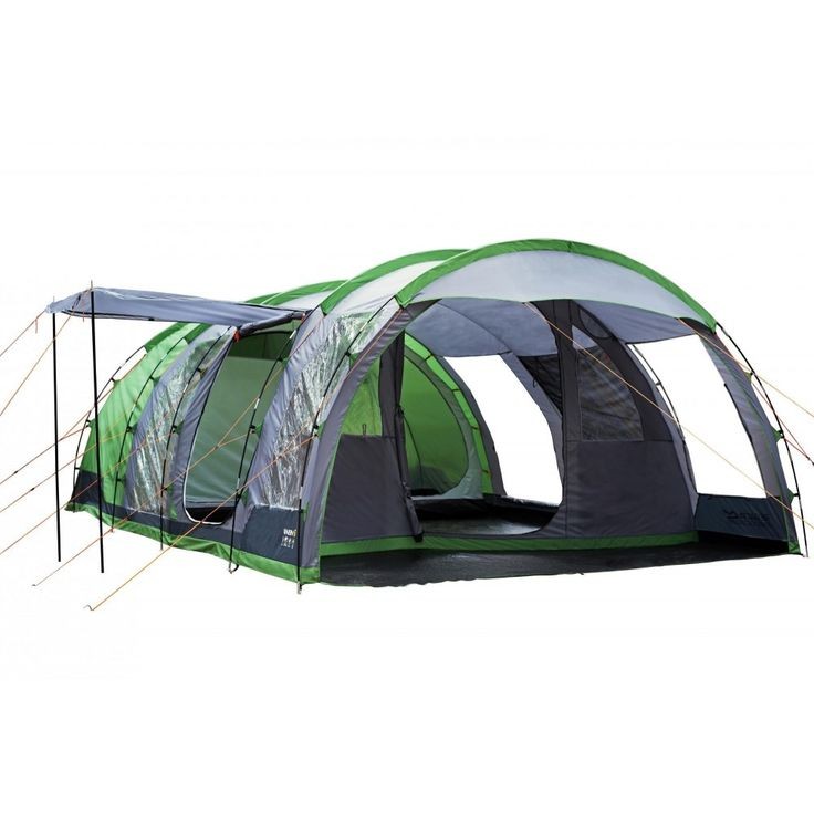 Regatta Tunnel Tent - 6 Man Vanern Family Tent - Green | Outdoorcampingdirect