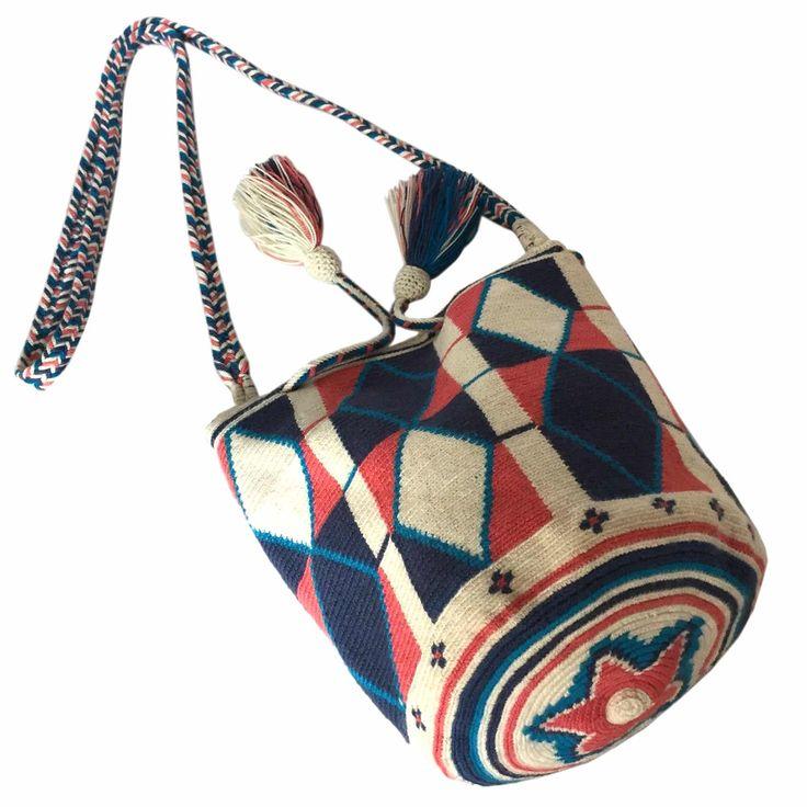$52.00 Retail Price SMALL Single Thread Colombia Wayuu Mochila Bag   RETAIL + WHOLESALE   Handmade and Fair Trade Wayuu Mochila Bags LOMBIA & CO.   www.LombiaAndCo.com