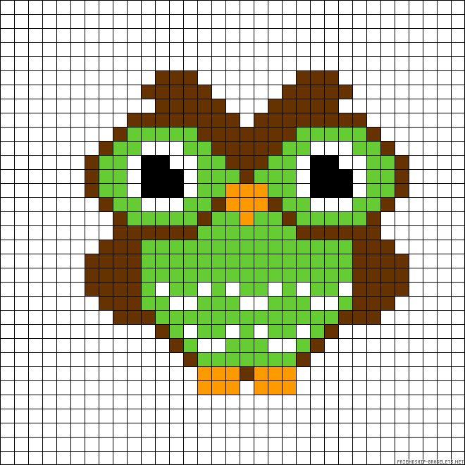 owl perler bead pattern desenler