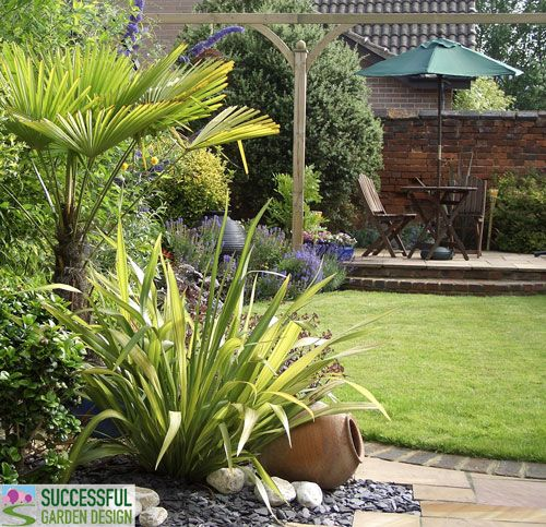 Garden Design Makeover in a Weekend - this post explains, in simple terms,  how to go about laying out a garden and patio.