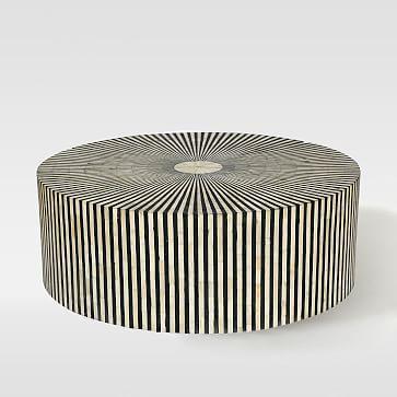 Stripe Inlay Coffee Table #westelm