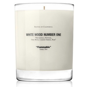 White wood number one: California Wooden, Wood Candles, White Wood, Numbers One, Baxter, Woods, Apothecaries, Wood Numbers, California White