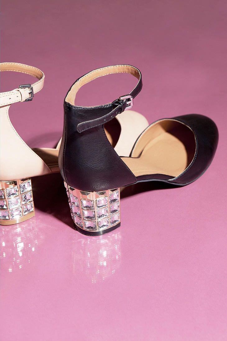 Pink Jeweled Heels