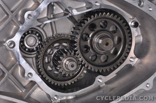 LEA7 KYMCO downtown 300i final reduction gear inspection
