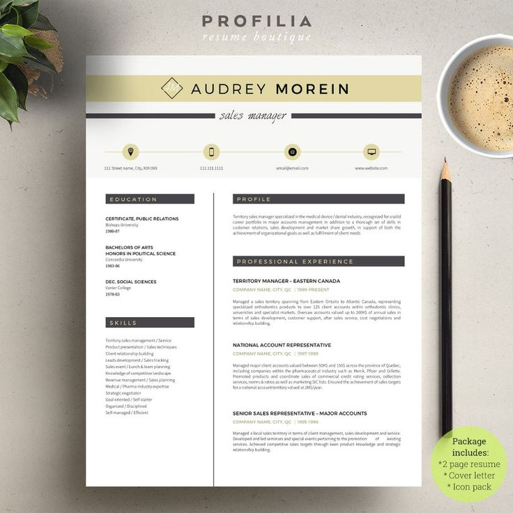 modern resume cover letter template editable word format 21 - Resume La Science Des Reves