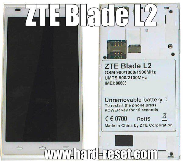 zte blade 3 hard reset code had