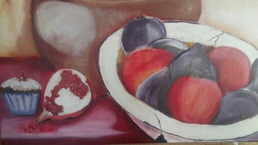 Cupcakes, oil on canvas