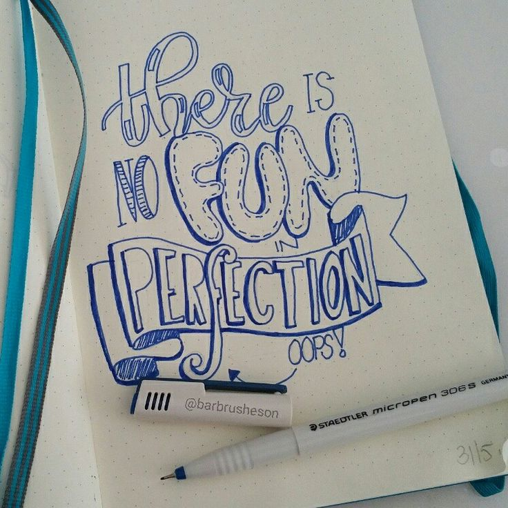 Fun & Perfection • handlettering by @Barbrusheson