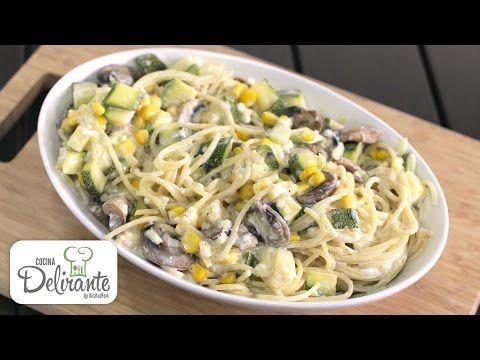 como hacer pasta con champiñones y calabazas | CocinaDelirante