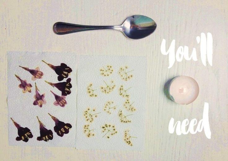bougie personnalisée avec des fleurs séchées - photos et tutoriel ...