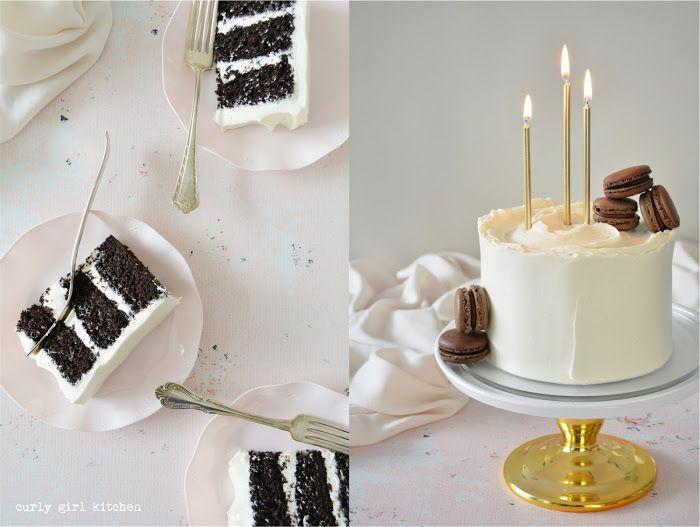 High Altitude Chocolate Cake With Vanilla Sour Cream Buttercream Curly Girl Kitchen Recipe In 2020 Sour Cream Frosting Birthday Cake Chocolate Sour Cream Chocolate Cake