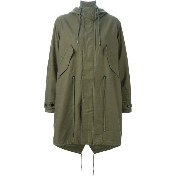 Diesel W-Ibiki Parka ($492) ❤ liked on Polyvore featuring outerwear, coats, green, green coat, diesel coats, green parka, green parka coat and parka coat