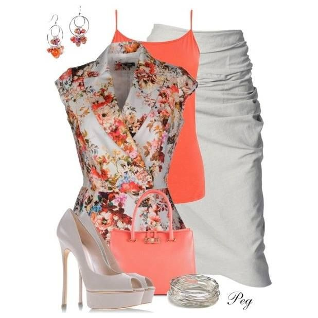white and orange outfit