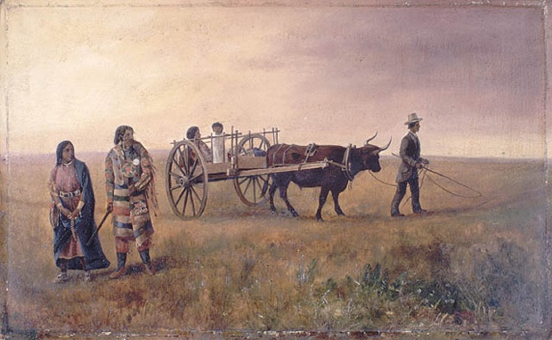 A Red River Cart at Calgary, N.W.T. BAC
