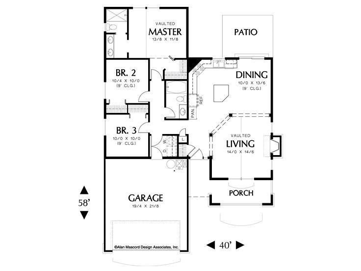 Best House Plans Images On Pinterest Floor Plans Home Plans - Craftsman style narrow house plans