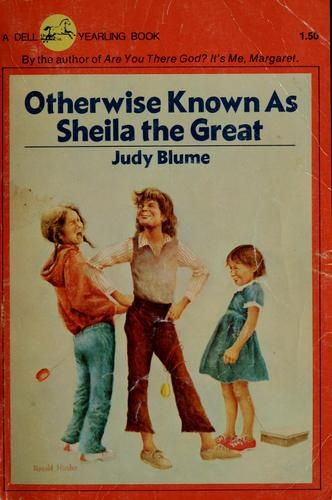 Otherwise Known as Sheila the Great by Judy Blume I still have this same book.  I've read it so many times it's falling apart!