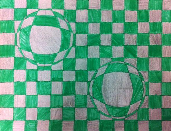 artisan des arts: Optical Illusions - grade 5