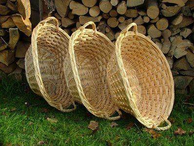 Oval linen basket