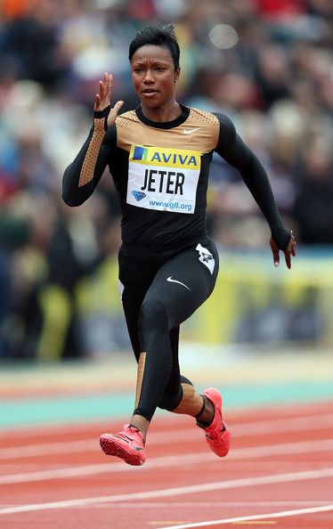 Carmelita Jeter is an American sprinter