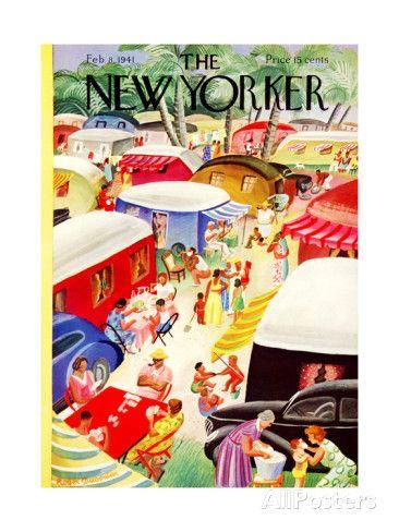 オールポスターズの ロジャー・デュボアザン「The New Yorker Cover - February 8, 1941」プレミアムジクレープリント
