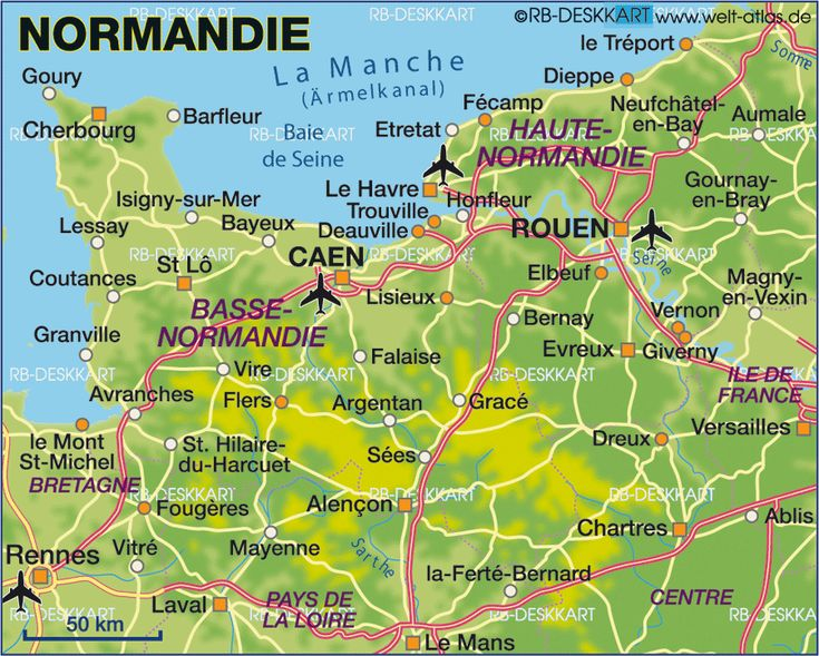 Image detail for -Map of Normandy (France) - Map in the Atlas of the World - World Atlas