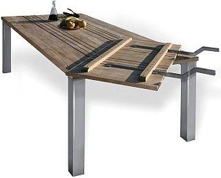 Teak Ansteckplatte für Tisch Phönix by Matahari