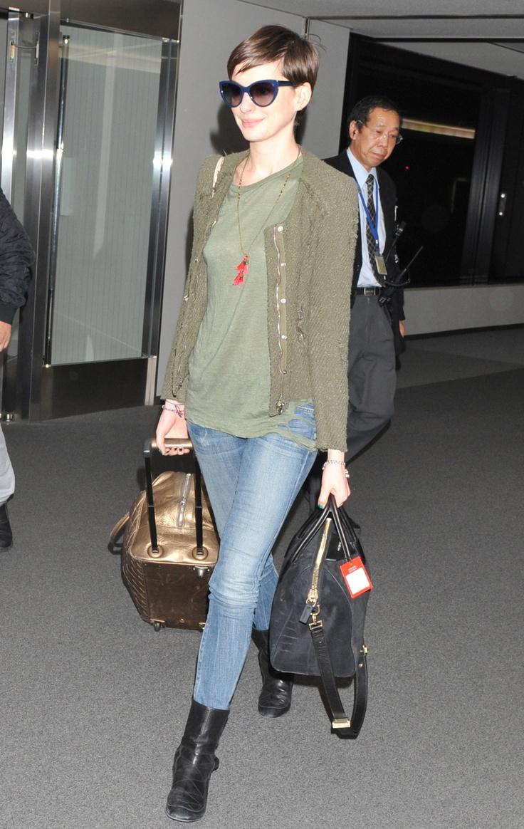 Anne Hathaway arriving in Tokyo, November 26th