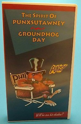 The Spirit of Punxsutawney Groundhog Day VHS