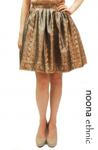 Back In Stock: Navajo Print Full Skirt In Brown !! Exclusively produced from our Indonesian heritage fabrics