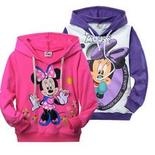 2016 roupa de minnie mouse para menina miúdos mola outono manga longa t-shirt ocasional hoodies camisola (China (continente))