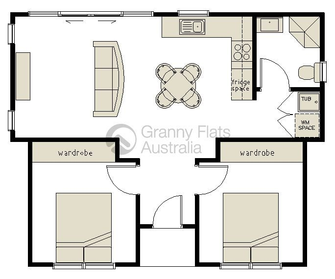 Best 25 small flats ideas on pinterest small flat decor for 2 bedroom granny flat plans