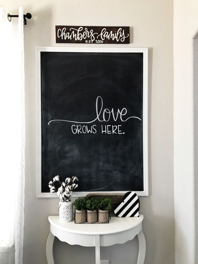 Modern Farmhouse Kitchen Chalkboard Wall Source