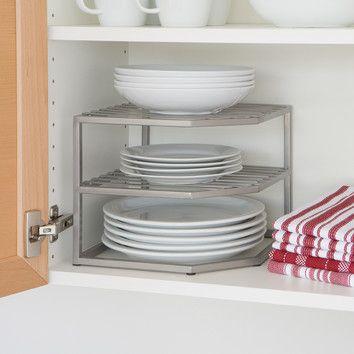 Seville Classics Corner Kitchen Cabinet Organizer $15